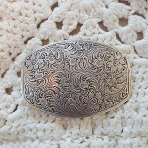 Accessories - Western Silver belt buckle